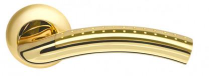 Ручка раздельная Armadillo (Армадилло) Libra LD26-1SG/GP-4 матовое золото/золото