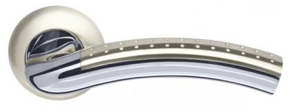 Ручка раздельная Armadillo (Армадилло) Libra LD26-1SN/CP-3 матовый никель/хром TECH (кв. 8х140)