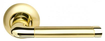 Ручка раздельная Armadillo (Армадилло) Stella LD28-1SG/GP-4 матовое золото/золото TECH (кв. 8х140)