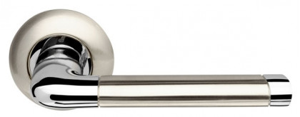Ручка раздельная Armadillo (Армадилло) Stella LD28-1SN/CP-3 матовый никель/хром TECH (кв. 8x140)