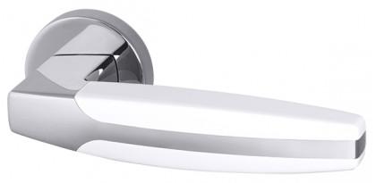 Ручка раздельная Armadillo (Армадилло) ARC URB2 CP/White-14 Хром/белый