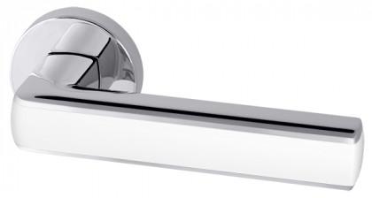 Ручка раздельная Armadillo (Армадилло) CUBE URB3 CP/White-14 Хром/белый