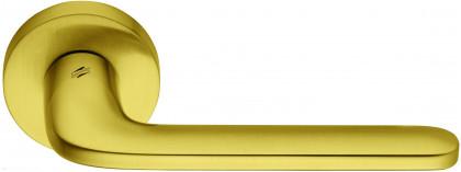 Дверная ручка на круглом основании COLOMBO Roboquattro ID41RSB-OM матовое золото