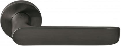 Дверная ручка на круглом основании COLOMBO Lund SE11RSB-GM матовый графит
