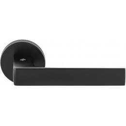 Дверная ручка на круглом основании COLOMBO Robocinque ID61RSB-NM матовый черный