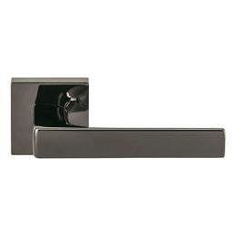 Дверная ручка на квадратном основании COLOMBO Alba LC91RSB-GLS графит / матовый графит