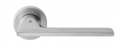 Дверная ручка на круглом основании COLOMBO Alato JP11RSB-CM матовый хром