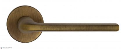 "Дверная ручка на круглом основании Fratelli Cattini ""LINEA"" 7-BY матовая бронза"
