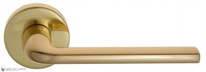 """Дверная ручка на круглом основании Fratelli Cattini """"LINEA"""" 7-OLV полированная латунь"""