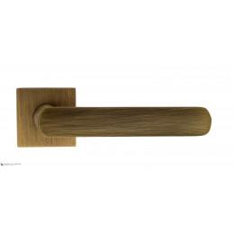 "Дверная ручка на квадратном основании Fratelli Cattini ""NEVADA"" 8-BY матовая бронза"