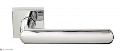 """Дверная ручка на квадратном основании Fratelli Cattini """"NEVADA"""" 8-CR полированный хром"""