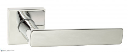 """Дверная ручка на квадратном основании Fratelli Cattini """"ELLE"""" 8-CR полированный хром"""