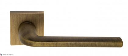 "Дверная ручка на квадратном основании Fratelli Cattini ""LINEA"" 8-BY матовая бронза"