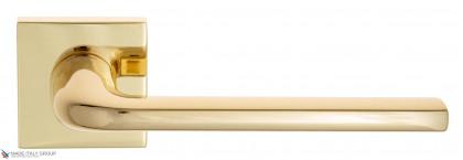 """Дверная ручка на квадратном основании Fratelli Cattini """"LINEA"""" 8-OLV полированная латунь"""