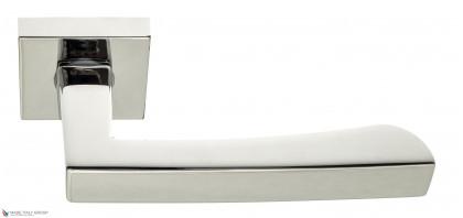 """Дверная ручка на квадратном основании Fratelli Cattini """"HAMMER"""" 8-CR полированный хром"""