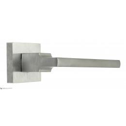 """Дверная ручка на квадратном основании Fratelli Cattini """"SLIM"""" 8-CS матовый хром"""