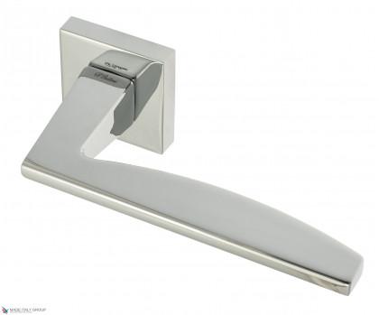 """Дверная ручка на квадратном основании Fratelli Cattini """"TECH"""" 8-CR полированный хром"""