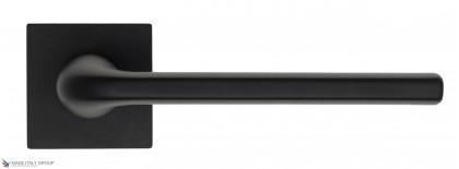 """Дверная ручка на квадратном основании Fratelli Cattini """"LINEA"""" 8-NM матовый черный"""