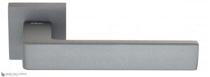 """Дверная ручка на квадратном основании Fratelli Cattini """"BOOM"""" 8-GA антрацит серый"""