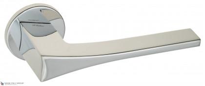 """Дверная ручка на круглом основании Fratelli Cattini """"OSSIS"""" 7FS-CR полированный хром"""