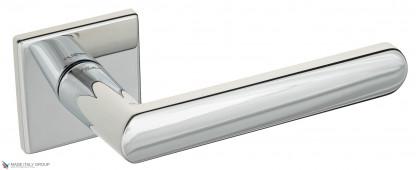 """Дверная ручка на квадратном основании Fratelli Cattini """"NEVADA"""" 8FS-CR полированный хром"""