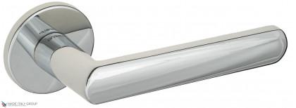 """Дверная ручка на круглом основании Fratelli Cattini """"NEVADA"""" 7FS-CR полированный хром"""