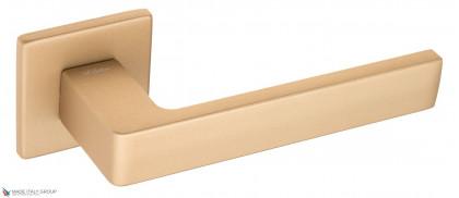 """Дверная ручка на квадратном основании Fratelli Cattini """"BOOM"""" 8FS-KD золото крайола"""