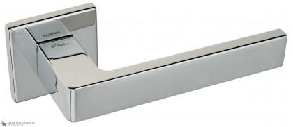 """Дверная ручка на квадратном основании Fratelli Cattini """"BOOM"""" 8FS-CR полированный хром"""