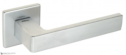 """Дверная ручка на квадратном основании Fratelli Cattini """"BOOM"""" 8FS-CS матовый хром"""