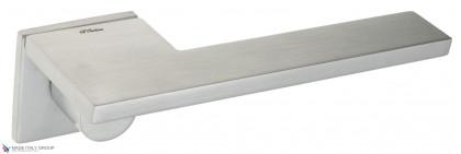 """Дверная ручка на квадратном основании Fratelli Cattini """"PLANA"""" 8FS-CS матовый хром"""