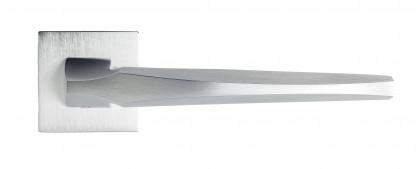 "Дверная ручка Venezia Unique ""STONE"" матовый хром"