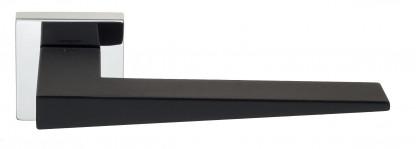 """Дверная ручка Venezia Unique """"PHILIP"""" полированный хром / черный (мягкое покрытие)"""