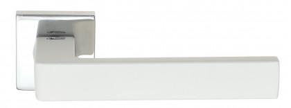 """Дверная ручка Venezia Unique """"BIBLO"""" полированный хром / белый"""