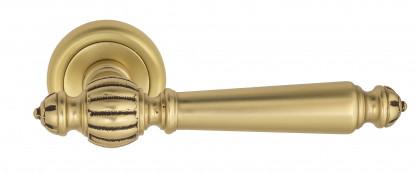 """Дверная ручка Venezia """"PELLESTRINA"""" D1 французское золото + коричневый"""
