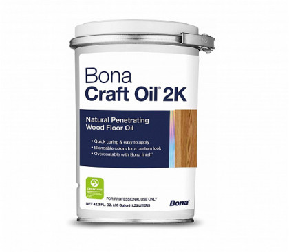 Цветная Bona Craft Oil 2К уникальное соединение различных растительных масел, модифицированных для долговременной пропитки и защиты деревянных напольных покрытий.