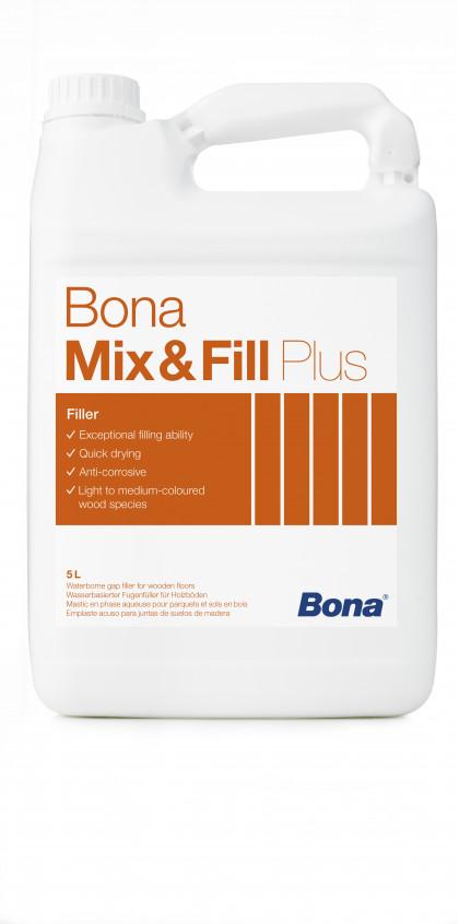 Bona Mix&Fill Plus cвязующее вещество с повышенным содержанием полимера, для приготовления шпатлёвки. Для заполнения щелей до 3 мм.