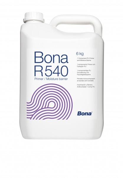 Bona R 540 1K полиуретановый грунт для абсорбирующих и не абсорбирующих основ. Совместим с клеями Bona R777, R778, R848T и Титан. Пароизоляции до  4 CM%.