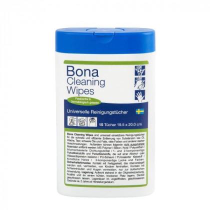 Bona Cleaning Wipes Универсальные чистящие салфетки для быстрого и эффективного удаления остатков загрязнений от масла, воска, смазки, битума, различных красок и др.