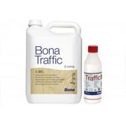 Bona Traffic Двухкомпонентный воднодисперсионный,  устойчивый  к  истиранию  лак   на основе модифицированного полиуретана.