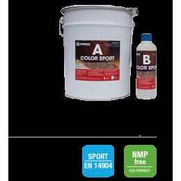 COLOR SPORT Двухкомпонентная окрасочная система на водной основе для спортивных деревянных полов 1,1 кг